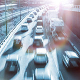 Highway and lensflare Royalty Free Stock Image