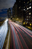 Highway of light. Highway in New York city royalty free stock images