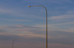 Highway Light Couple. Pre-sunset highway lights in washington Stock Images