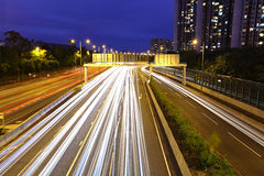 Highway light trails Stock Image