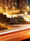 Highway light trails Royalty Free Stock Photography