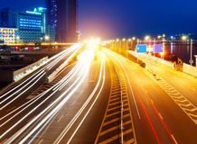 Free Highway Light Trails Stock Photo - 24338320