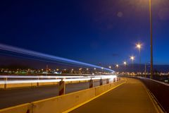 Highway Light-trails royalty free stock images