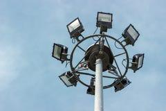 Highway lighting column Royalty Free Stock Photography
