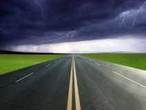 Highway Lightning Stock Images