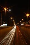 Highway lights. Highway night lights in Zagreb Royalty Free Stock Image