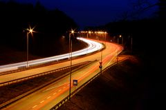 Highway lights Stock Photography