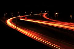 Highway lights Royalty Free Stock Photos