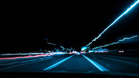 Highway Lights Royalty Free Stock Photo