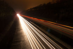 Highway lights at night. Colorful highway lights at night Stock Images