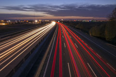 Highway lights Royalty Free Stock Photography