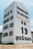 Highway location marker Thailand Royalty Free Stock Photography