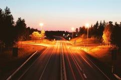 Highway long exposure Stock Photos