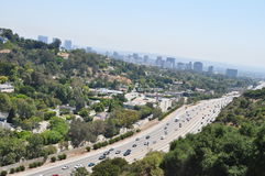 Highway in Los Angeles. Near Getty Museum Stock Photos