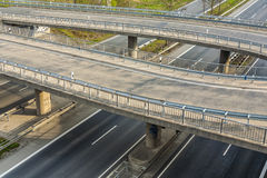 Highway with lots of car in motion rush concept Royalty Free Stock Photo