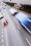 Highway with lots of cars Royalty Free Stock Photography