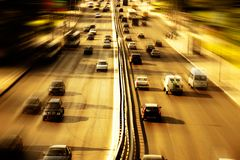 Highway with lots of cars Stock Photography