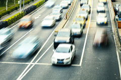 Highway with lots of cars Stock Photo