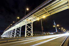 Highway in Macau at night Royalty Free Stock Photo
