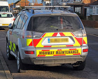 Highway maintenance vehicle Stock Images