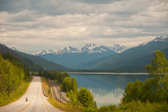 Highway and majestic vistas Stock Photos