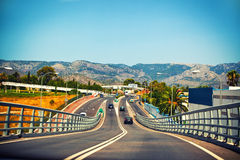 Highway in Mallorca Royalty Free Stock Image
