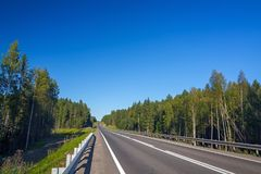 Highway with markings on  sky background. Highway with markings on the sky background Royalty Free Stock Image
