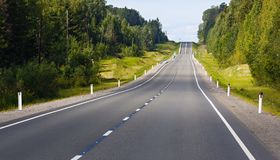 Highway with markings on  sky background. Highway with markings on the sky background Stock Image