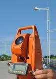 Highway measurement equipment Stock Image