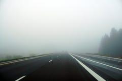 highway mgłowa Zdjęcie Stock