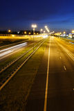 Highway at Midnight Royalty Free Stock Image