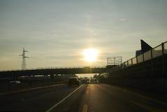 Highway from Milan to Varese royalty free stock photos