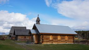 108 Mile House British Columbia, Canada. Highway 97 108 Mile House and Ranch Museum Log Building in British Columbia, Canada Photograph taken in April 2017 stock photos
