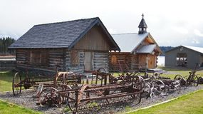 108 Mile House British Columbia, Canada. Highway 97 108 Mile House and Ranch Museum Log Building in British Columbia, Canada Photograph taken in April 2017 royalty free stock photo