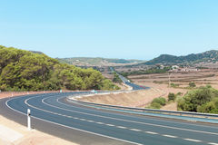 Highway of Minorca Royalty Free Stock Photos