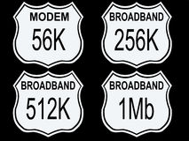Highway modem speeds Royalty Free Stock Images