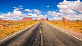 Highway in Monument Valley Stock Photography