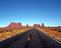 Highway 163, Monument Valley, USA. Royalty Free Stock Images