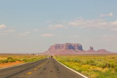 Highway in Monument Valley, Utah and Arizona. royalty free stock images