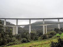 Highway monumental bridge in Asturias, Camino del Norte, the Northern Way of Saint James in Spain stock images
