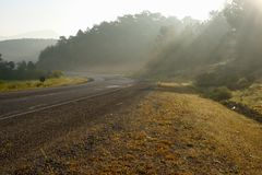 Highway in the morning. Stock Image