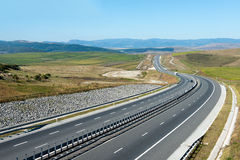 Highway in the morning. Low traffic on a highway, early in the morning Royalty Free Stock Images