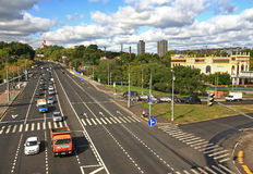 Highway in Moscow. Stock Photo