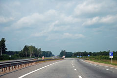 Highway Moscow-Saint_Petersburg (E-95). It is Highway Moscow-Saint_Petersburg (E-95 Stock Photos