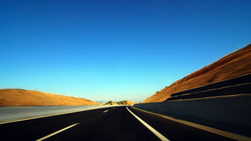 Highway motion. Great colors for this image of highway motion Stock Images