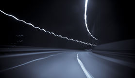 Highway in motion blur. At night Stock Image