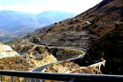 Highway. Motorway in spain andaluzia Royalty Free Stock Photo