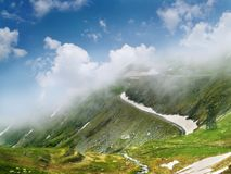 Highway on mountain Royalty Free Stock Photo