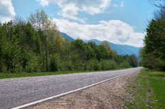 Highway in a mountainous area Stock Photos