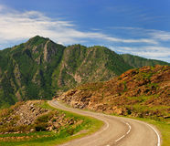 Highway in mountains Royalty Free Stock Images